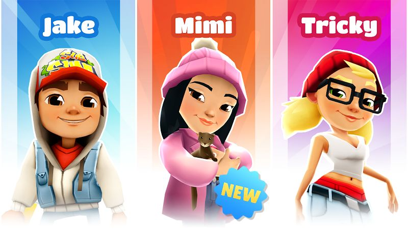 subway surfers mod coinskeysall characters moddroid 2 3
