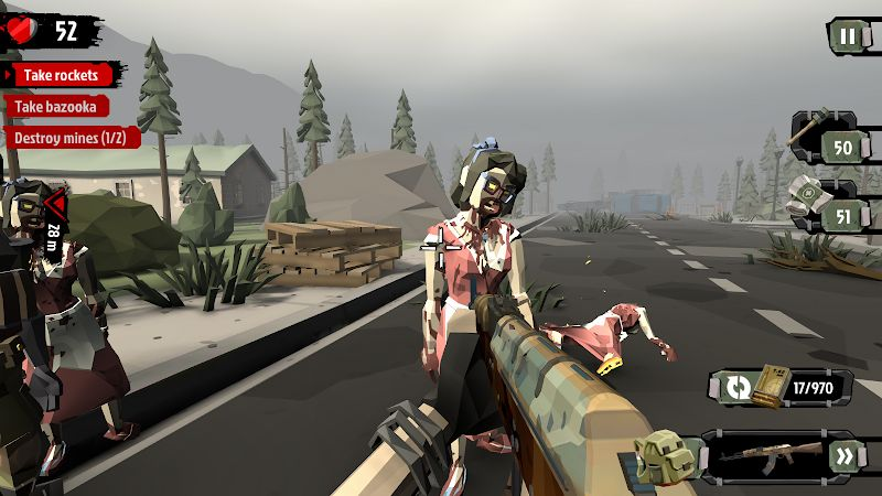 the walking zombie 2 mod unlimited moneyammo moddroid 1 2