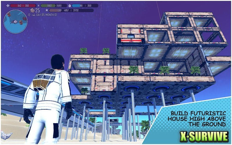 x survive crafting building sandbox mod free construction moddroid 2