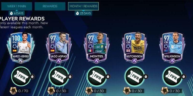 Giải đấu cuối tuần FIFA Mobile 20