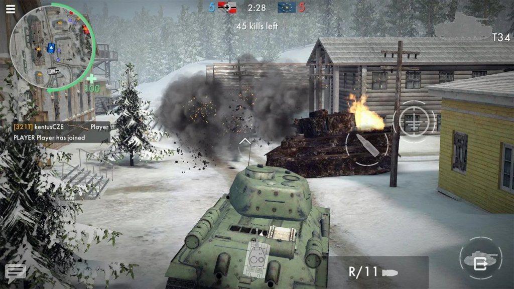 Xe tăng hướng dẫn anh hùng trong Thế chiến