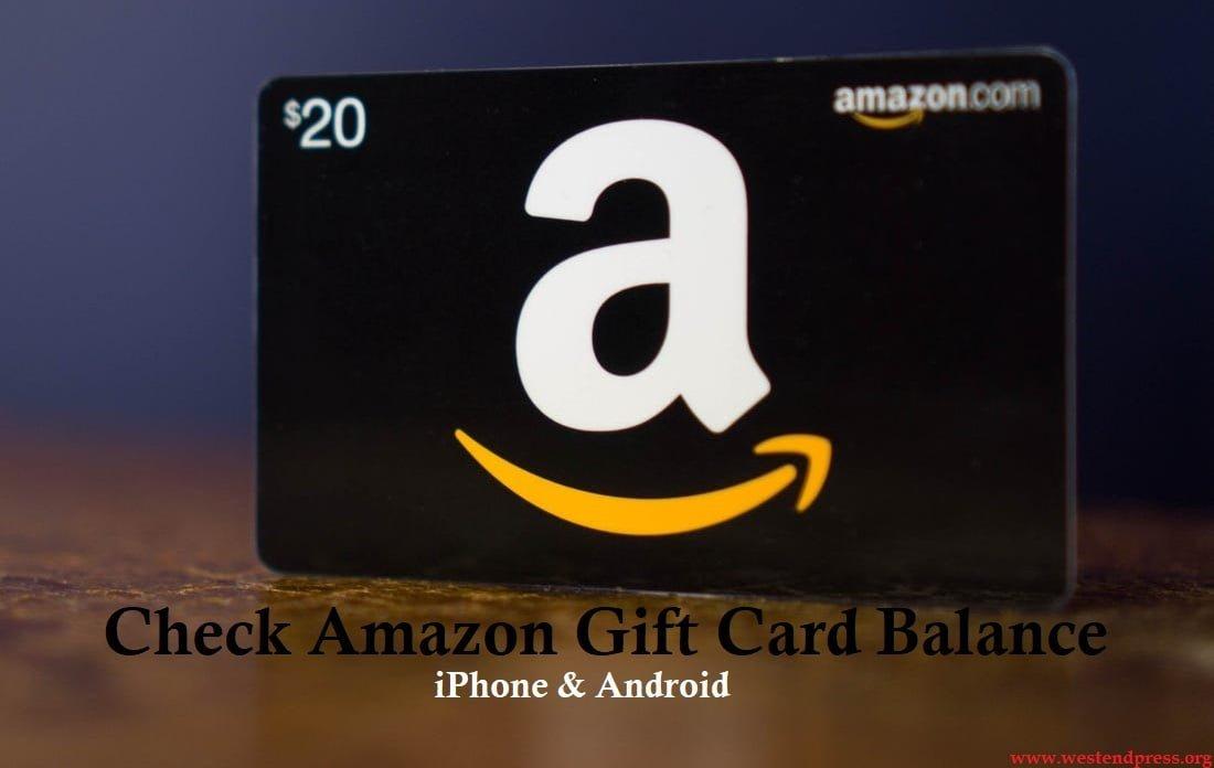 Kiểm tra số dư thẻ quà tặng amazon