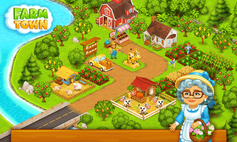 Farm Town Happy Farming Day MOD APK IOS