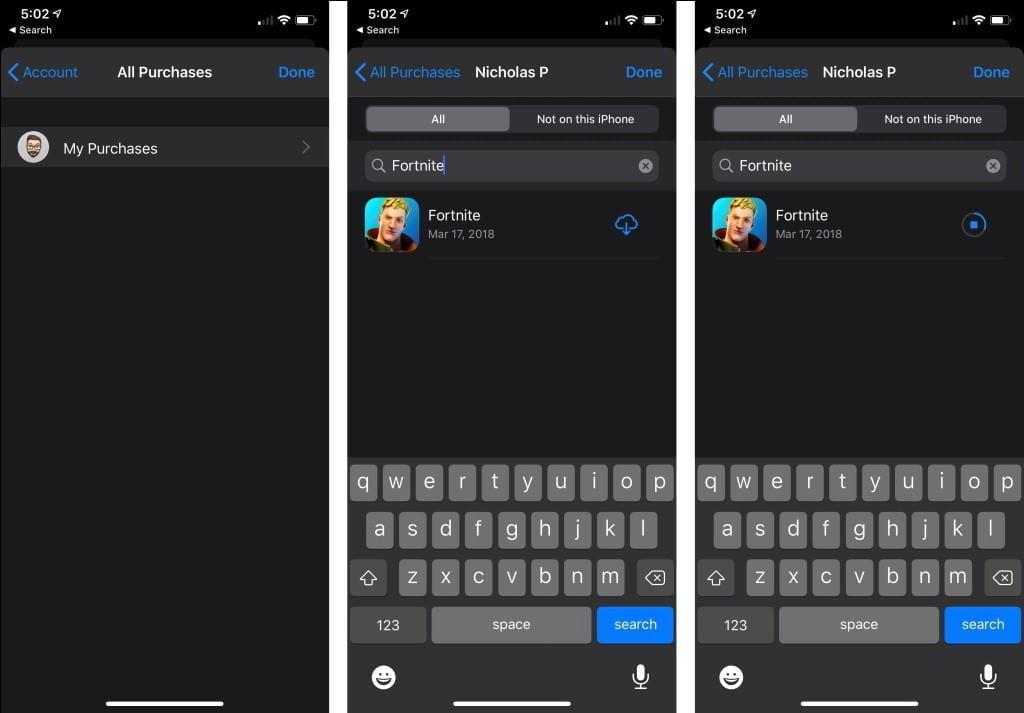 Cách cài đặt lại Fortnite trên iOS
