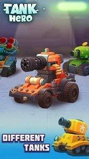 Xe tăng khác nhau trong trò chơi