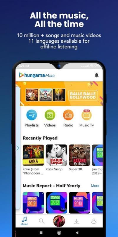 Hungama Music MOD Pro Dang ky