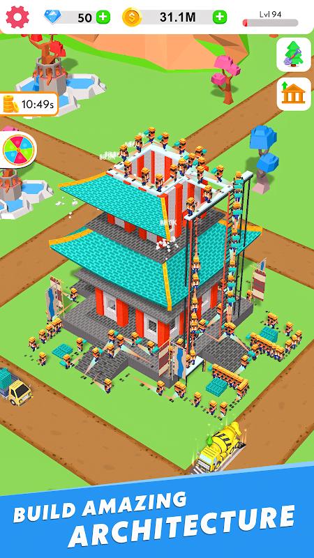 Idle Construction 3D MOD Vo han Kim cuong