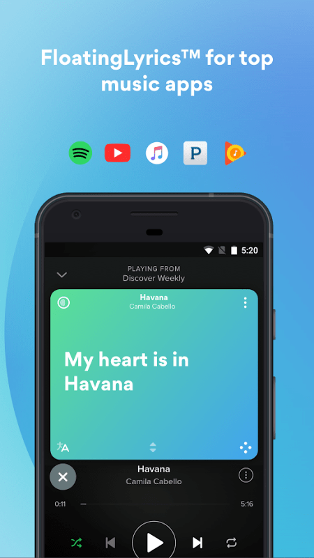 Musixmatch – Lyrics Music MOD Premium Mo khoa