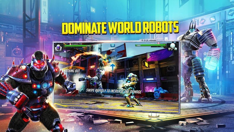 World Robot Boxing 2 MOD Vo han Strength