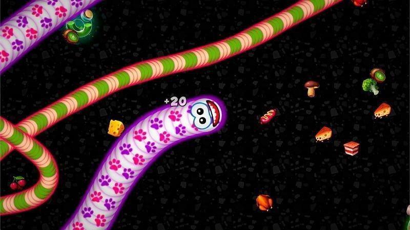 Worms Zoneio – Voracious Snake MOD Vo han Tien xu