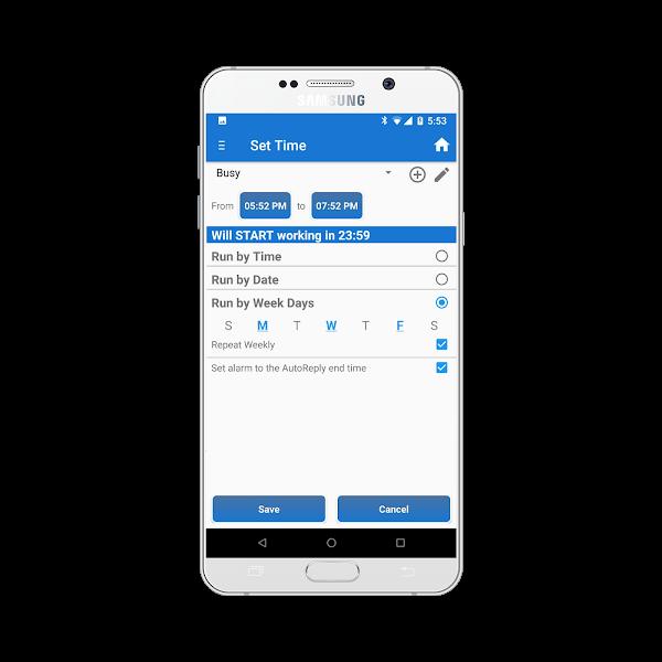Trả lời tự động SMS +++