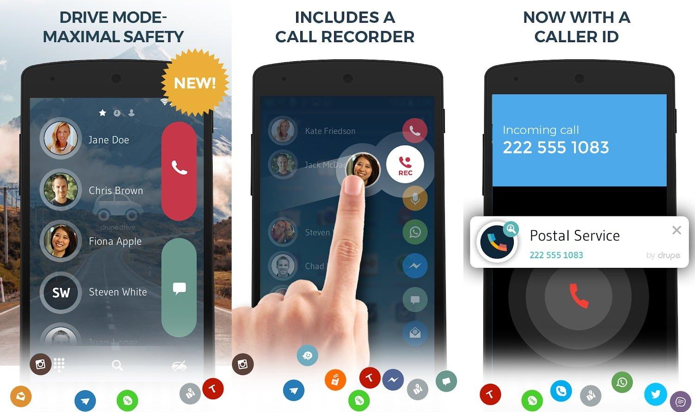 drupe – Contacts Caller ID MOD Pro Mo khoa