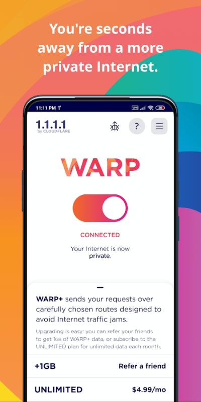 1604941206 157 1111 Cloudflare DNS MOD Free WARP