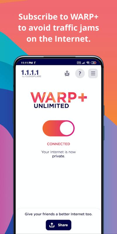 1604941206 460 1111 Cloudflare DNS MOD Free WARP
