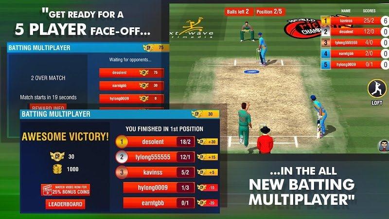 Giải vô địch cricket thế giới 2 (MOD, Tiền xu / Đã mở khóa)