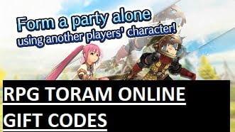 Mã quà tặng trực tuyến RPG Toram
