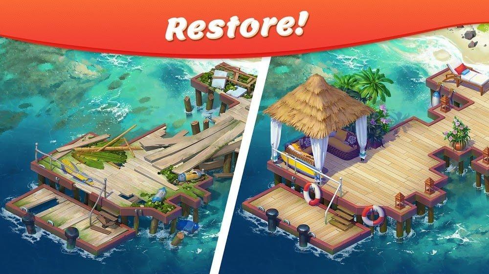 Rừng nhiệt đới: Câu chuyện trận đấu 3 (MOD, tiền không giới hạn)
