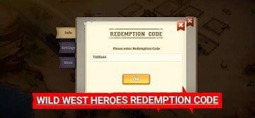 Mã đổi thưởng Wild West Heroes