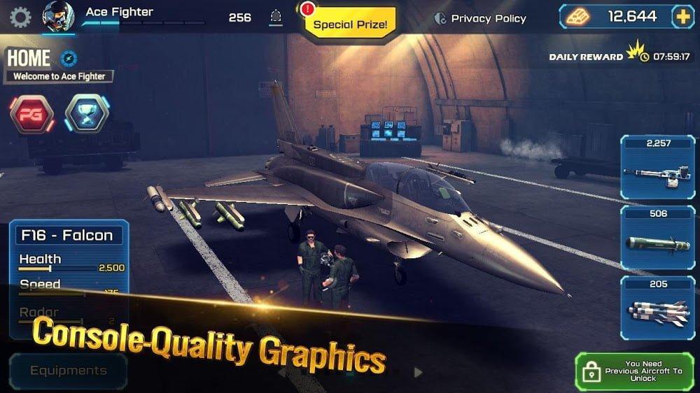 Ace Fighter: Máy bay phản lực chiến đấu trên không hiện đại