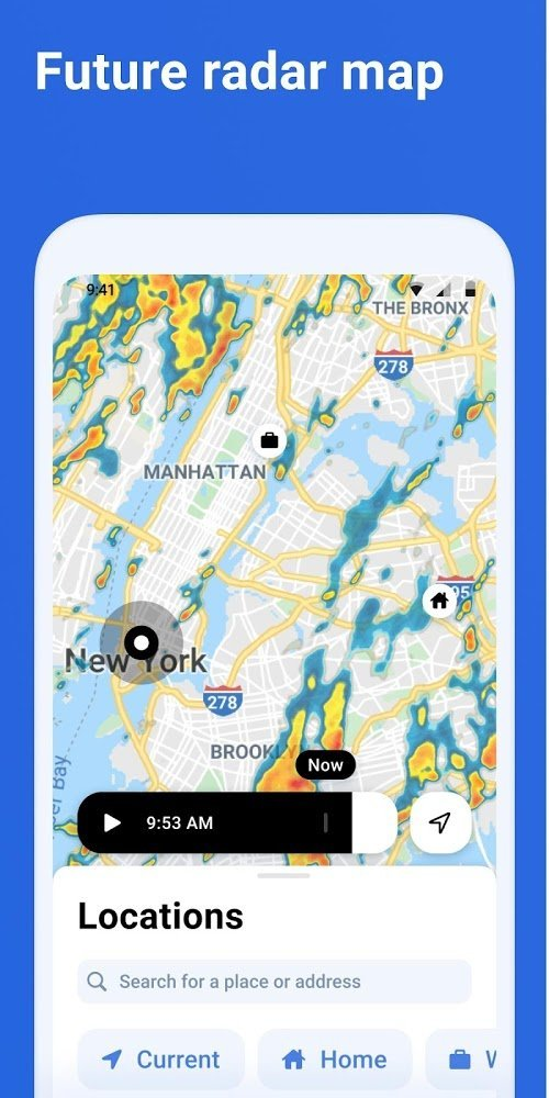 RainViewer: Dự báo thời tiết & theo dõi bão (MOD, Mở khóa cao cấp) ***