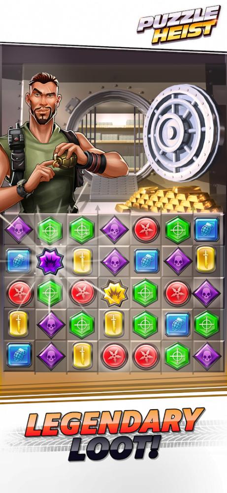 Puzzle Heist (MOD, One Hit / God Mode) ***