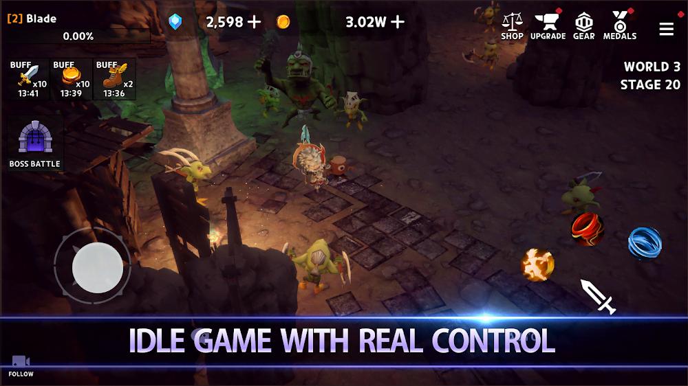Dungeon Knight: 3D Idle RPG (MOD, Money / God Mode) ***