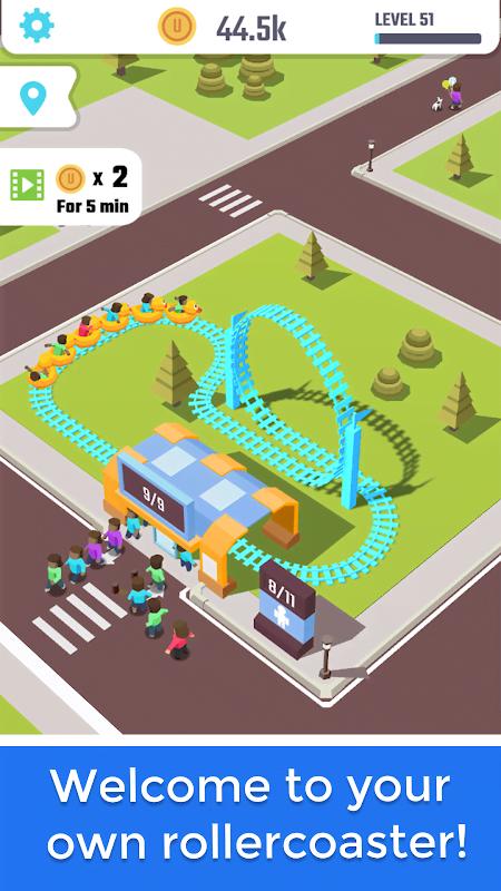 Idle Roller Coaster (MOD, Xu không giới hạn)