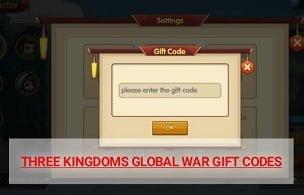 Mã quà tặng chiến tranh toàn cầu Tam Quốc
