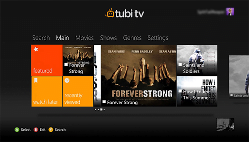 Tubi TV trên Xbox