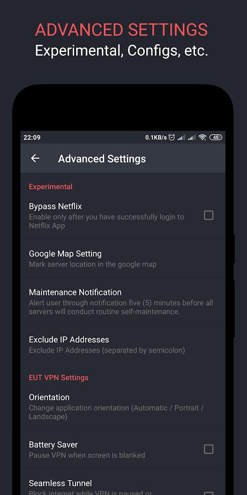 EUT VPN - Đường hầm dễ dàng không giới hạn