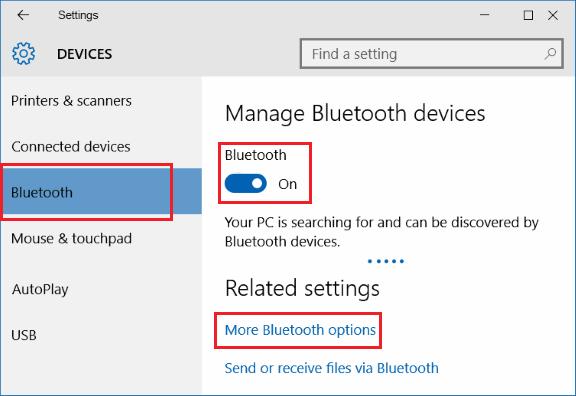 Cài đặt Bluetooth trên Windows PC