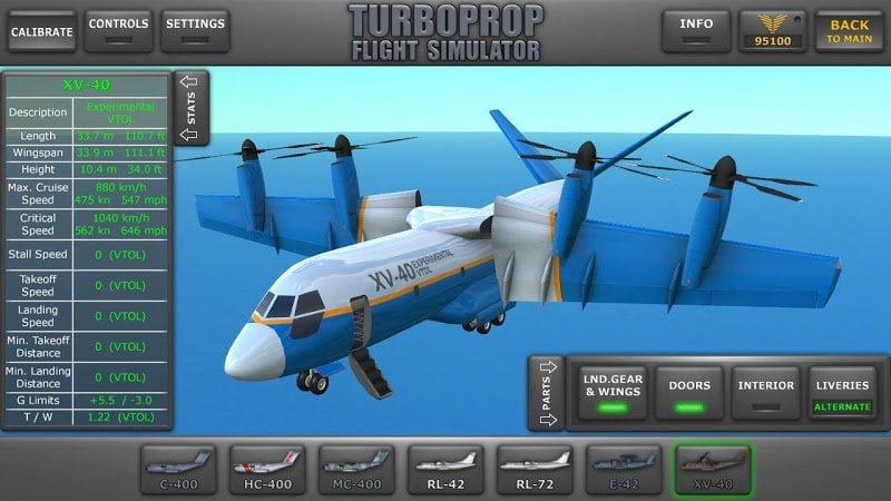 Turboprop Flight Simulator 3D (MOD, Tiền không giới hạn) ***