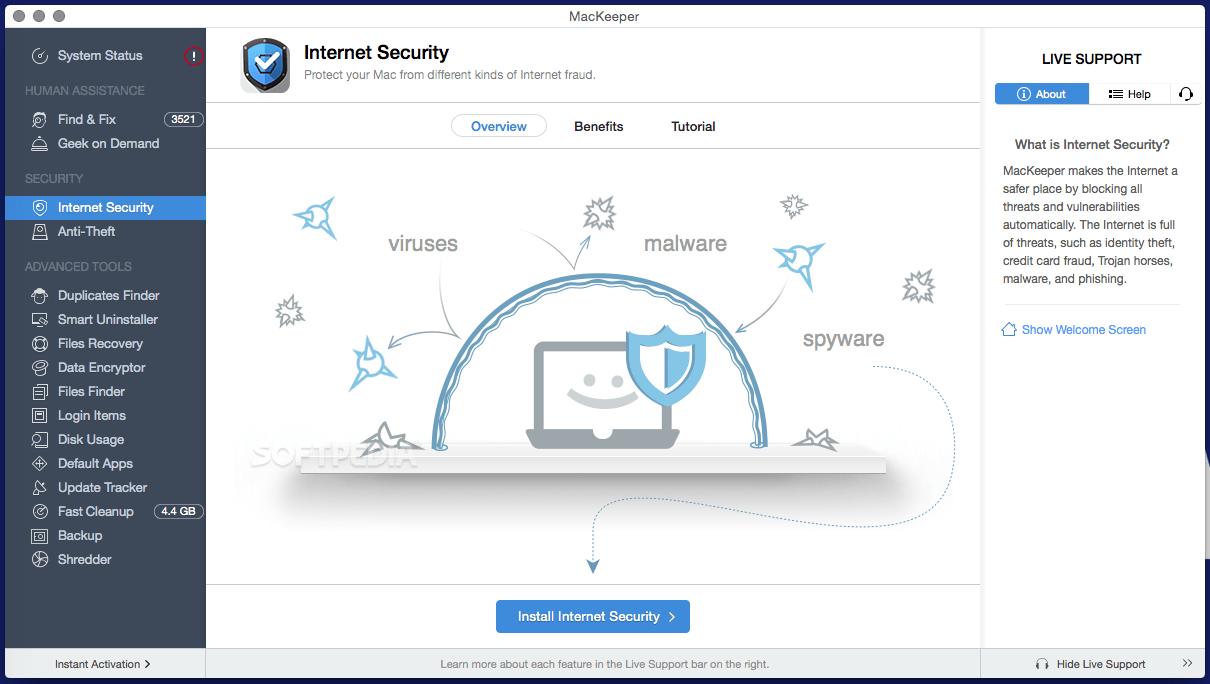 Bảo mật Internet bằng MacKeeper
