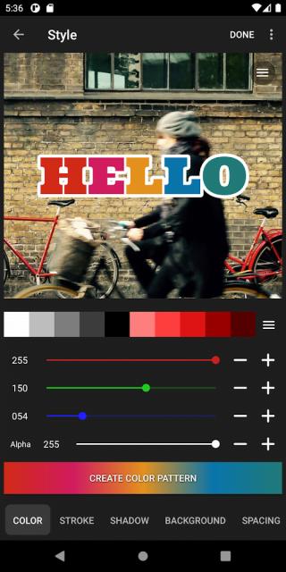 Phonto – Text on Photos (MOD, All Pack Unlocked)