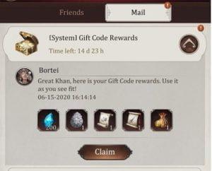 Mã quà tặng Game of Khans để đổi