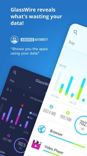 GlassWire Data Usage Monitor (MOD, Premium Unlocked)