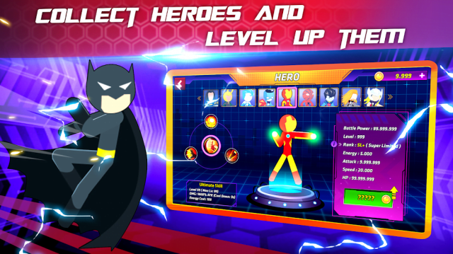 Super Stickman Heroes Fight (MOD, Unlimited Coins/Heros)