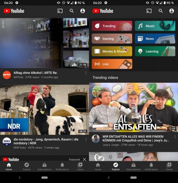YouTube (MOD, Premium Feature)