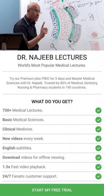 Dr. Najeeb Lectures (MOD, Premium Unlocked)